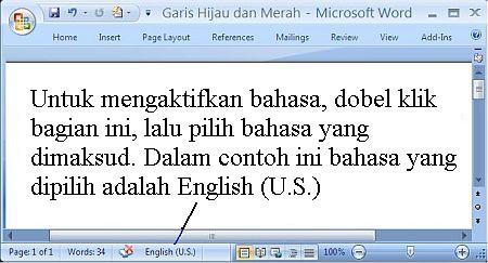 Microsoft Word sebagai Pemeriksa Ejaan dan Kalimat dalam Terjemahan